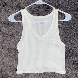 NWOT American Eagle white crop top size M